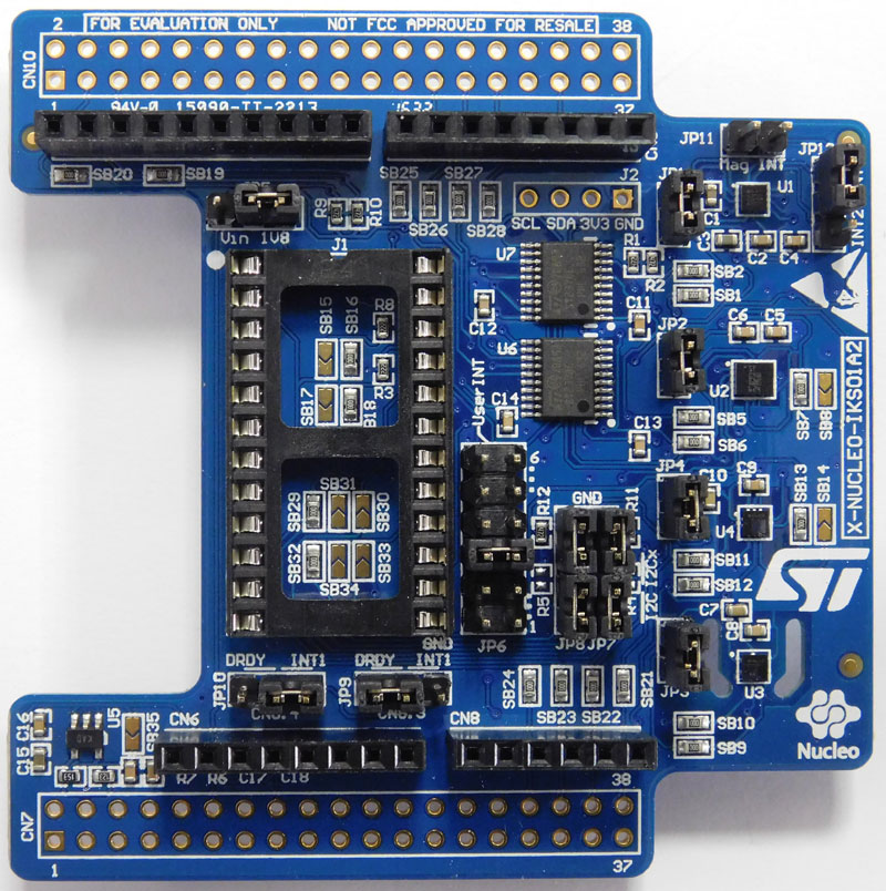 Motion MEMS and environmental sensor expansion board for STM32 Nucleo